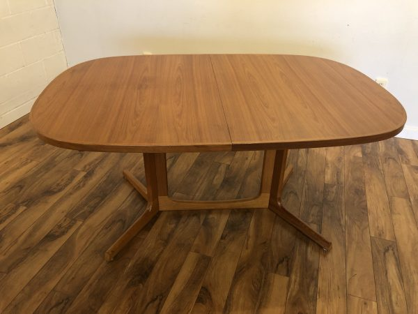 Teak Oval Expandable Dining Table from Norway – $595