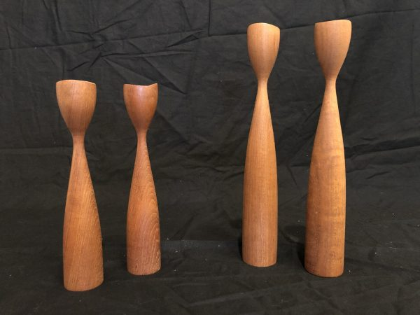 Danish Teak Candle Holders, Set of 4 – $120