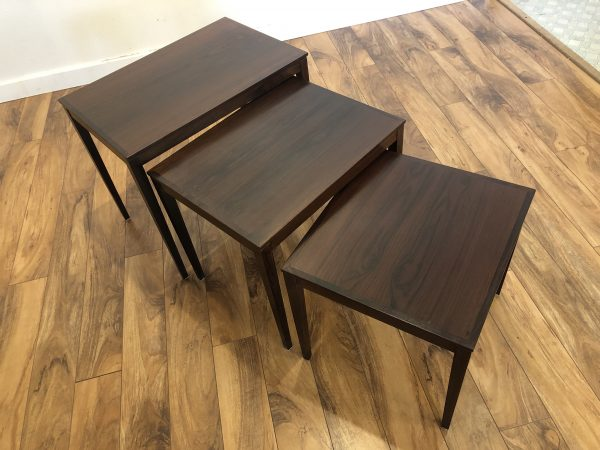 Bent Silberg Danish Rosewood Nesting Tables – $595