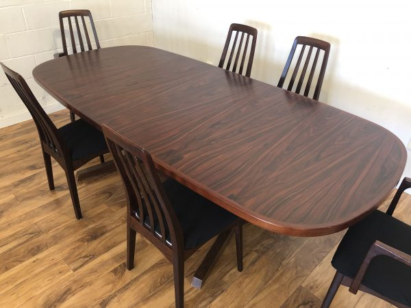 Gudme Rosewood Dining Table & 6 Chairs – $2495