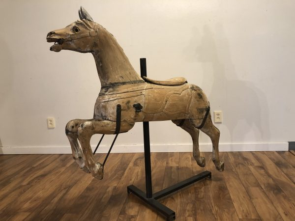 SOLD – Antique Carousel Horse on Stand