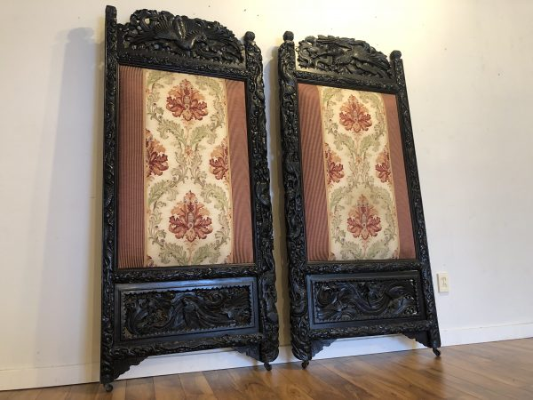 Meiji Period Phoenix Carved Screens / Doors – $995