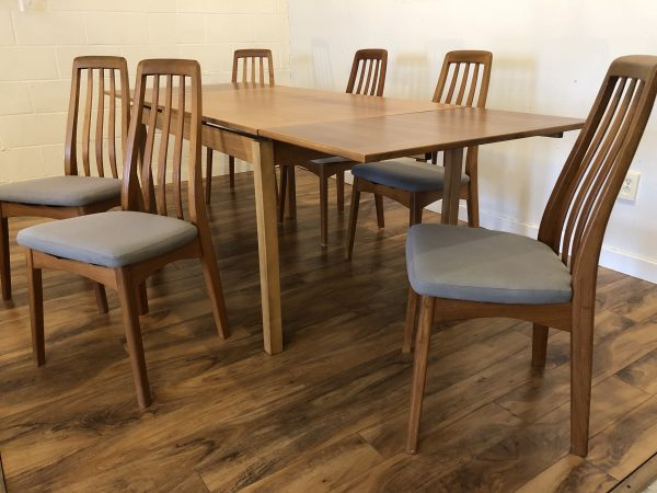 Danish Teak Dining Table & 6 Chairs – $1095