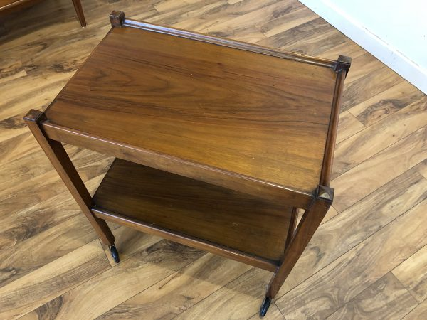 Mahogany Tea Trolley Rolling Cart – $195