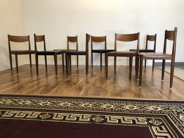 Frem Rojle Danish Teak Dining Chairs, Set of 8 – $2395