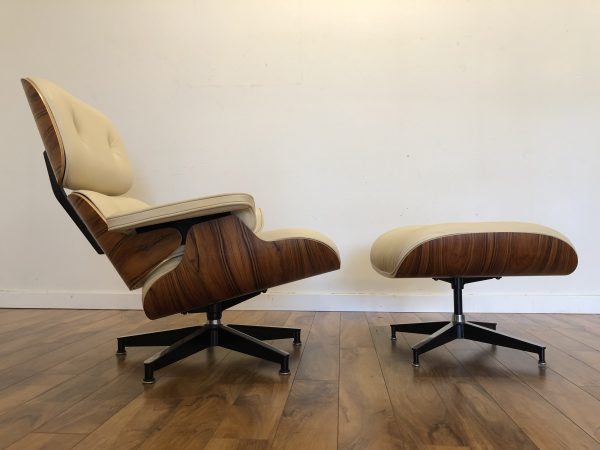 SOLD – Eames 670 / 671 Tall Leather Chair & Ottoman