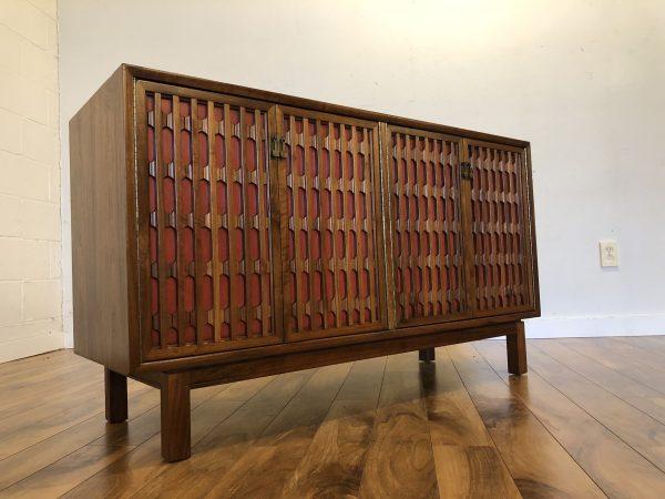 Mid Century Compact Walnut Sideboard – $1095