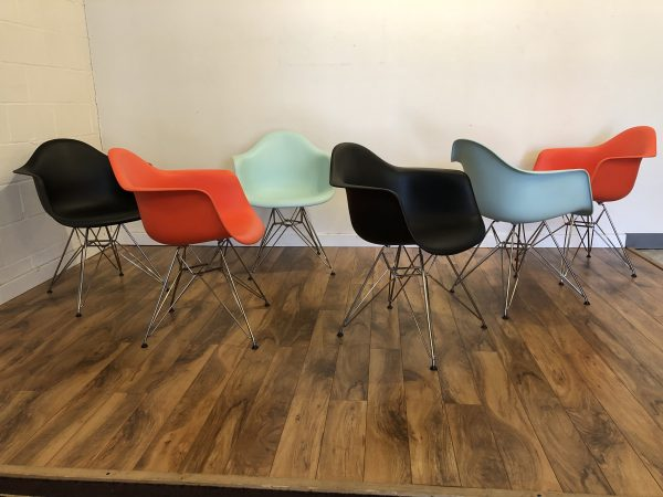 Eames DAR Molded Plastic Chairs – $275 each