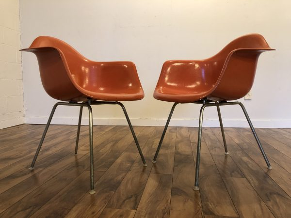 Eames Vintage Fiberglass Armchairs with H Base – $750