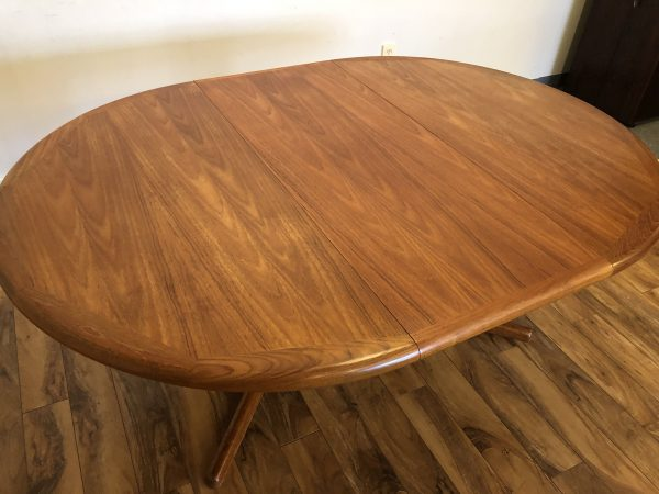 E. Valentinsen Round Teak Dining Table – $850