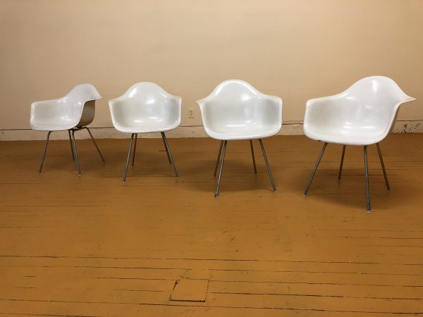 Eames Vintage White Shell Chairs, Set of 4 – $2495