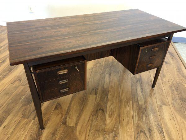 Scandinavian Rosewood Floating Top Desk – $2600