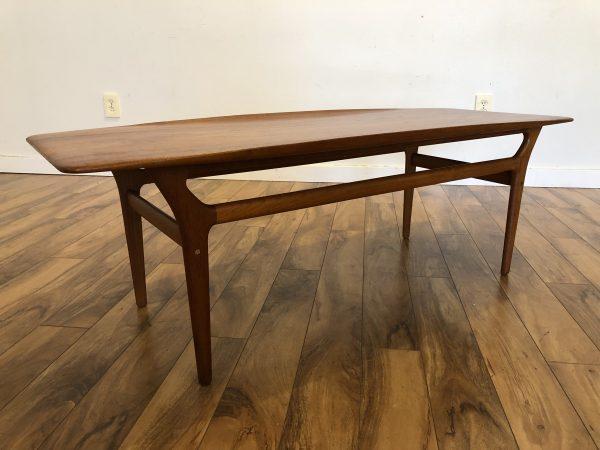Danish Teak Surfboard Coffee Table – $1495