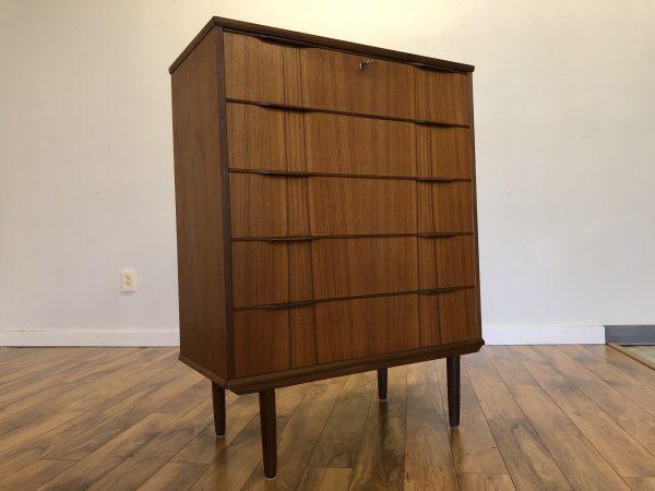 Teak Petite Highboy Dresser – $795