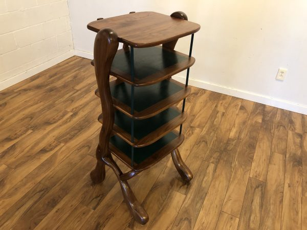 Custom Made Wood Pedestal Shelf – $750