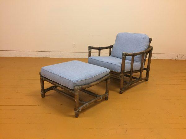 McGuire Vintage Lounge Chair & Ottoman – $750