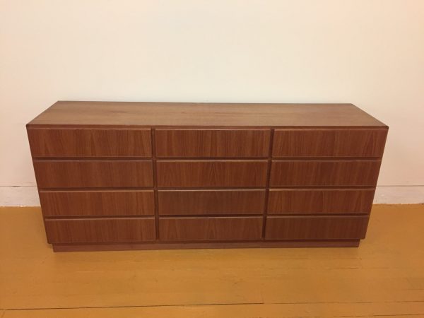 Komfort Danish Teak 12 Drawer Dresser – $950