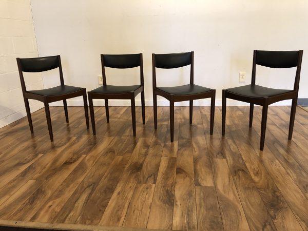 Danish Teak Dining Chairs, Set of 4 – $1195