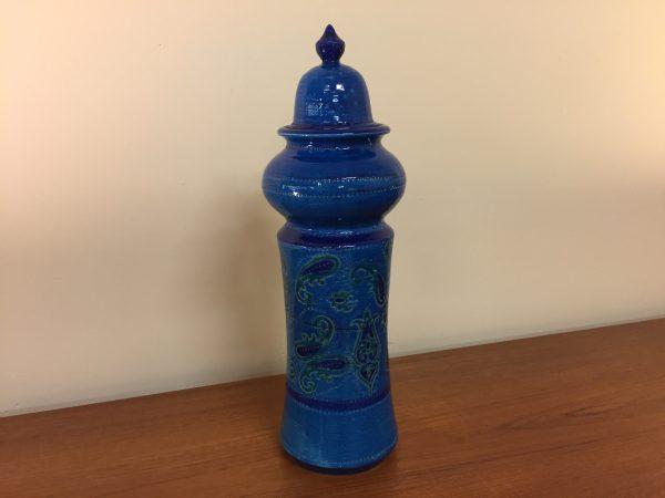 Aldo Londi for Bitossi Rimini Blue Jar With Lid – $750