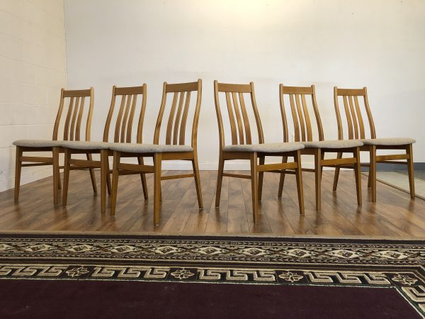 Farstrup Danish Teak Dining Chairs, Set of 6 – $1195