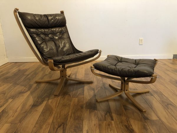 Falcon Chair & Ottoman by Vatne Mobler – $1295