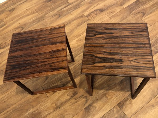 Danish Modern Rosewood Side Table Pair – $695