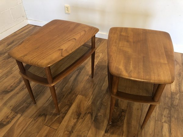 Peter Hvidt & Orla Molgaard Teak Side Table Pair – $1195