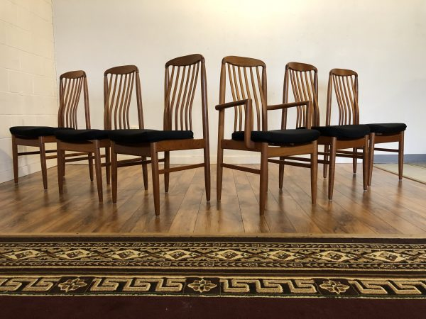 Benny Linden Teak Dining Chairs, Set of 6 – $895