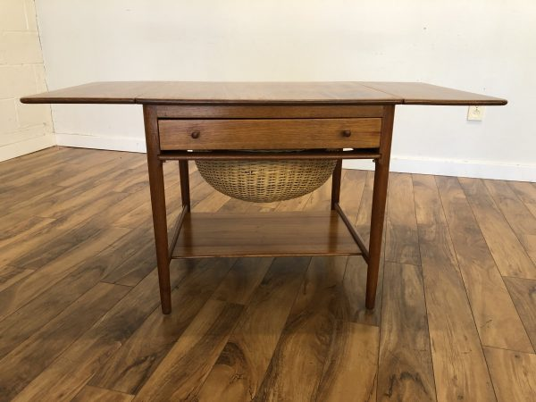 Hans Wegner Teak Sewing / Knitting Table – $750