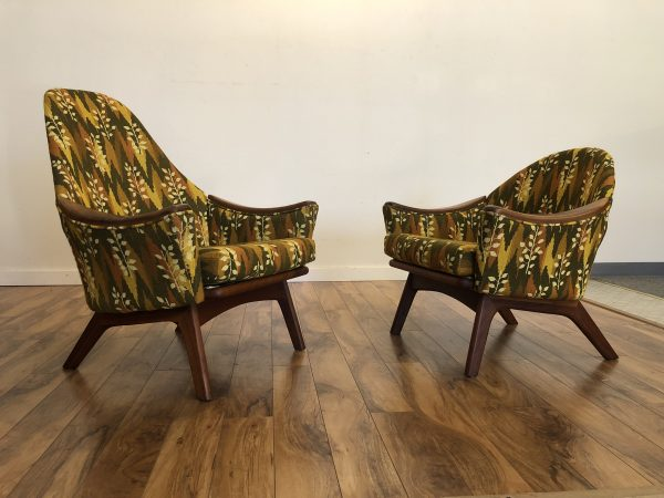 Adrian Pearsall His & Hers Lounge Chairs – $2495