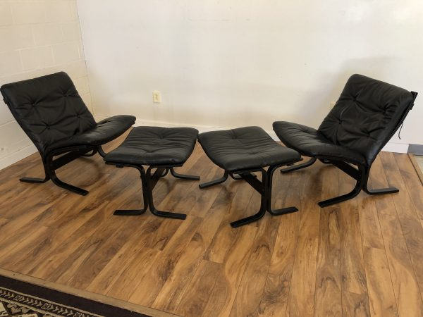 Westnofa Siesta Low Back Chairs & Ottomans – $795 / Set