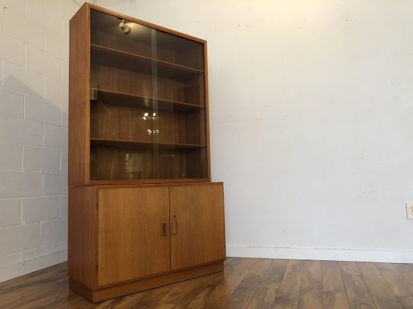 Borge Mogensen Danish Teak Cabinet With Display – $995