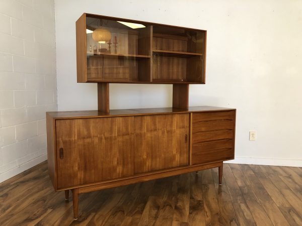 Johannes Aasbjerg Solid Teak Sideboard & Display – $3750