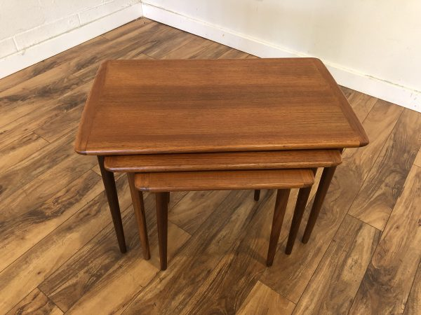 Danish Modern Vintage Teak Nesting Tables – $495