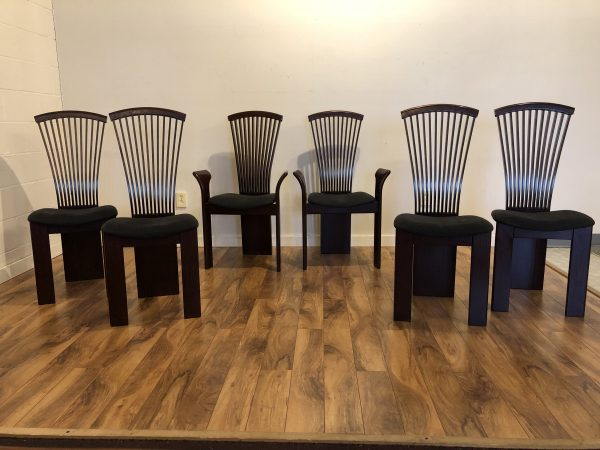Pietro Constantini Rosewood Dining Chairs – $1495