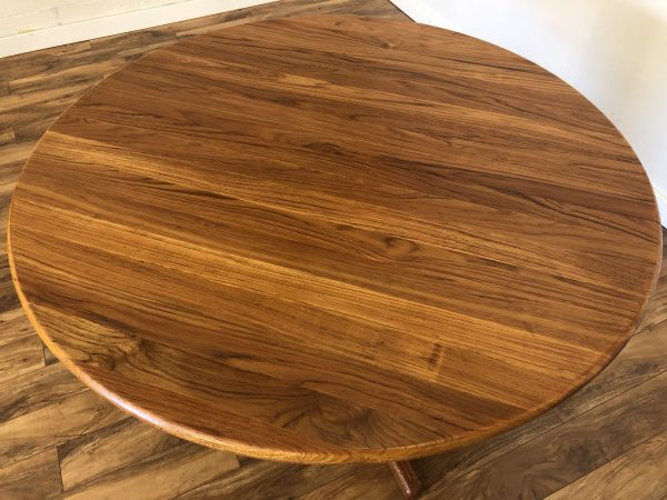 SOLD – Danish Modern Solid Teak Expandable Dining Table