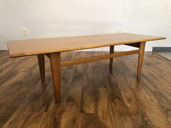 Large White Oak Coffee Table, Norway – $595