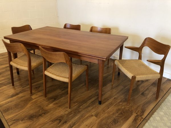 JL Moller Teak Dining Table & 6 Chairs – $4895