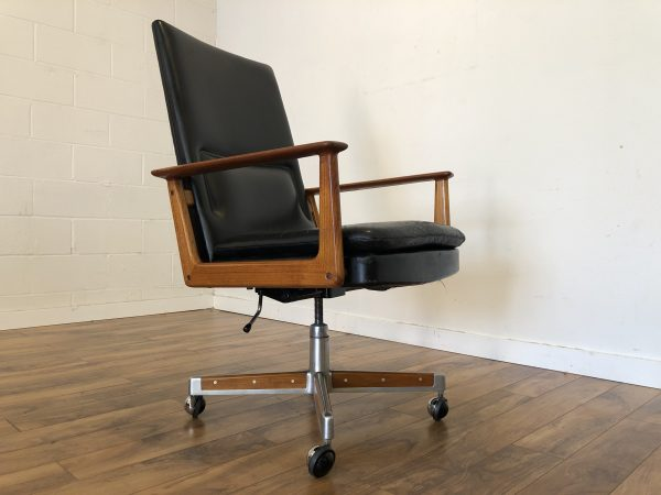 Arne Vodder Teak & Leather Executive Chair – $1195