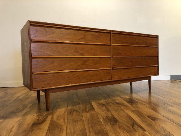 Danish Modern 8 Drawer Teak Lowboy Dresser – $1195