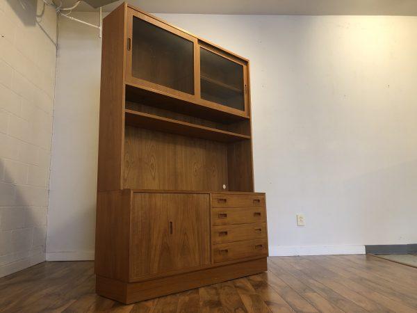 Poul Hundevad Danish Teak Sideboard & Display – $1195