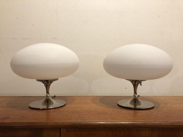 Laurel Mushroom Lamp Pair – $995