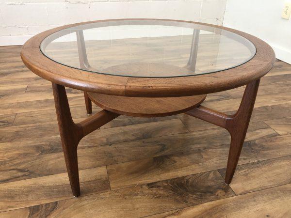 Teak & Glass Danish Modern Coffee Table – $695