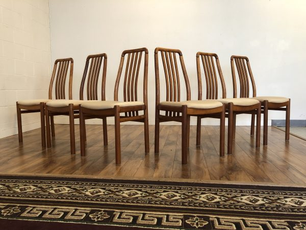 D-Scan Teak Dining Chairs – $950