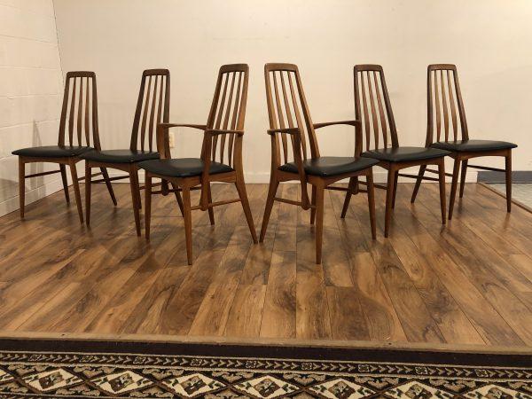 Koefoeds Hornslet Eva Teak Dining Chairs, Set of 6 – $2595