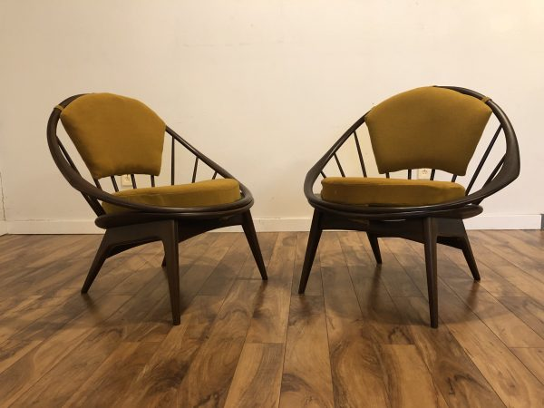 Kofod Larsen Peacock Chairs Pair – $3850