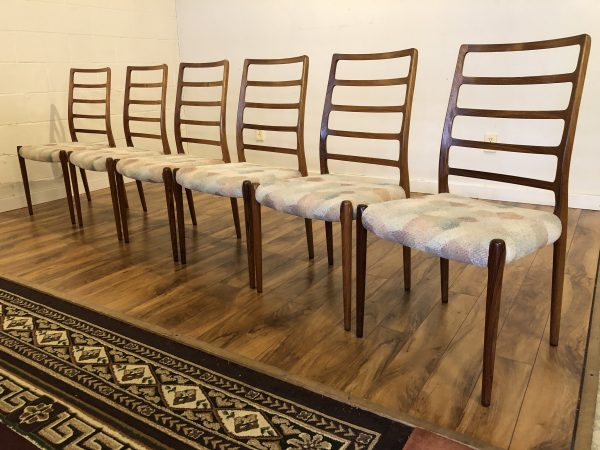 JL Moller Model 82 Rosewood Dining Chairs – $3995