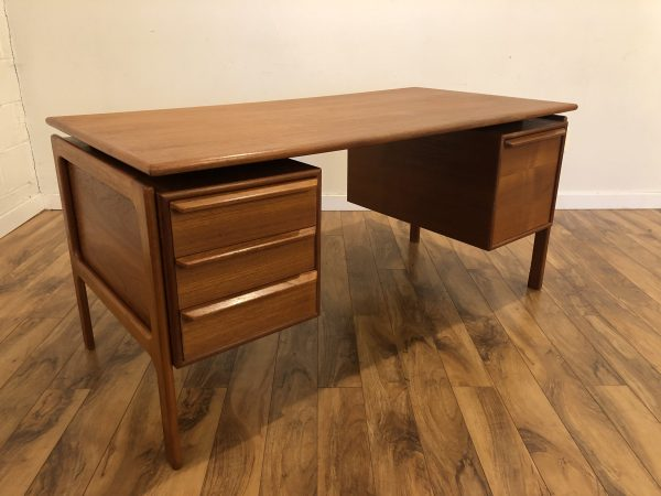 G.A. Gasvig Danish Teak Floating Top Desk – $1695