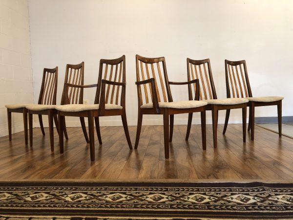 G-Plan Mid Century Slat Back Dining Chairs – $1250