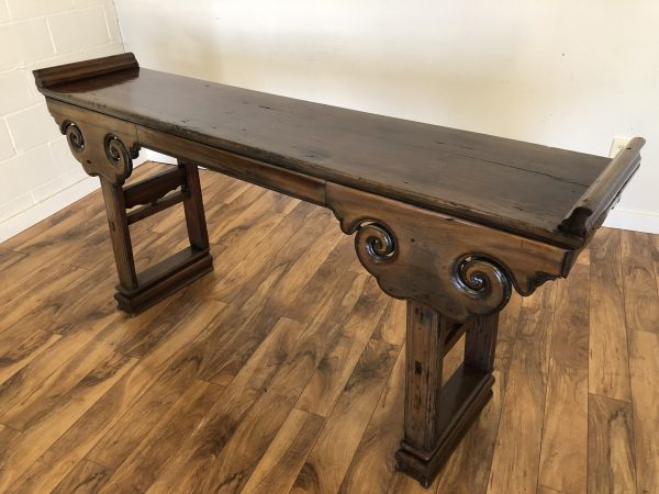 Antique Chinese Elm Wood Altar Table – $1250